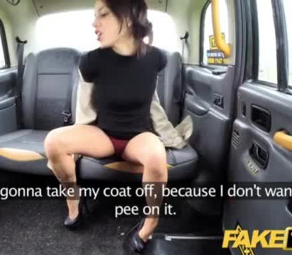 Fake taxi lady tries deepthroating big cock with taxi legend